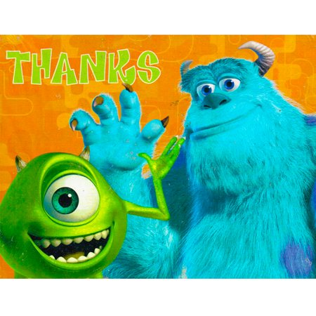 Monsters Inc. Thank You Notes w/ Env. (8ct)