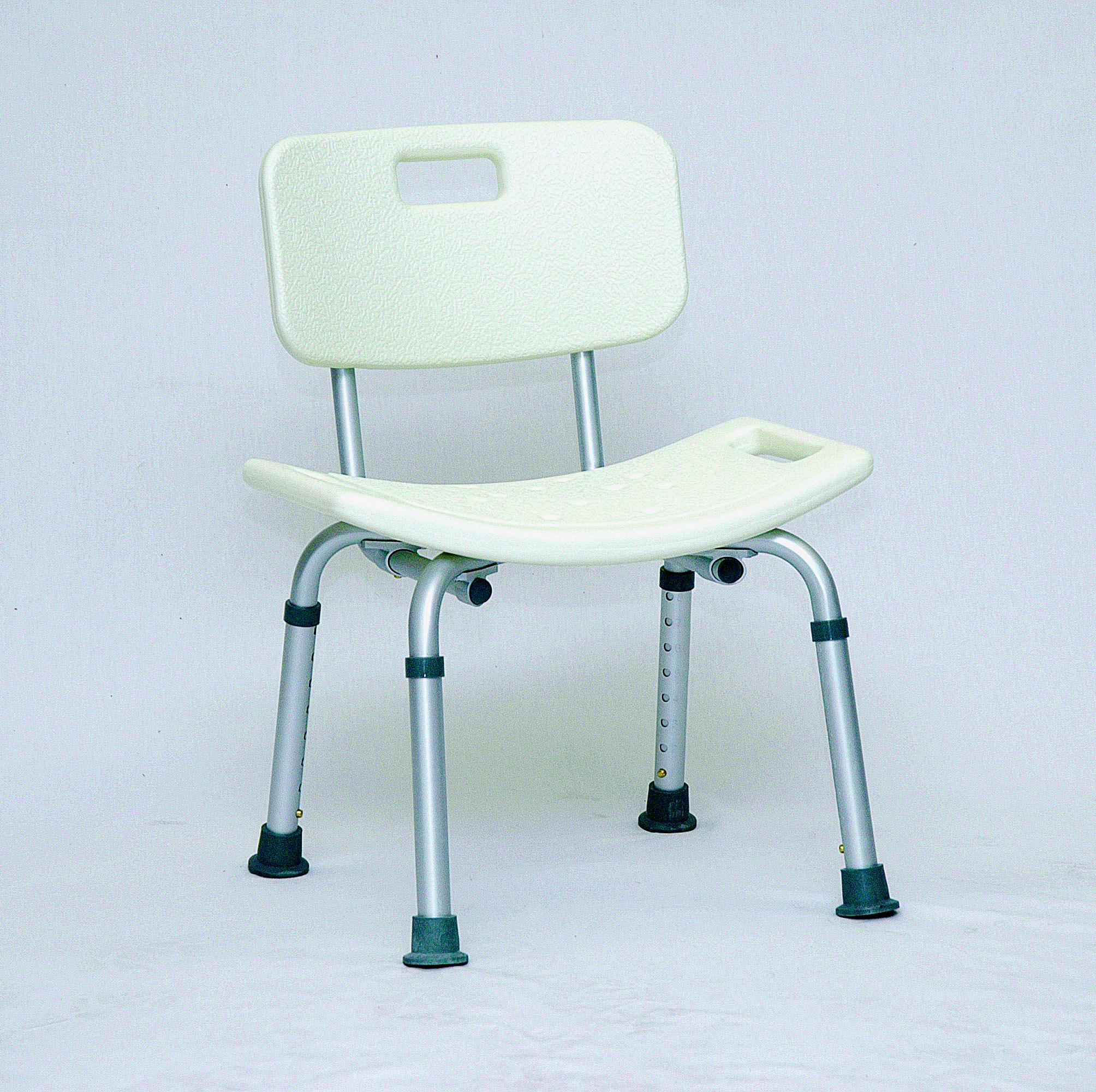 """Bath Bench with Back Blow Molded 17"""" x 17"""" Leg Span [Sold by the"""