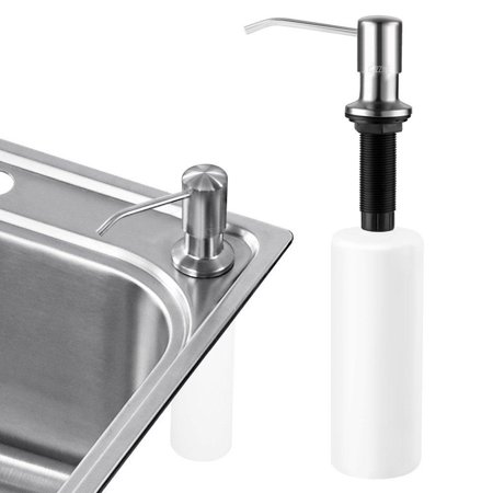 Sink Soap Dispenser Cozzine Stainless Steel Kitchen Countertop Built In Hand