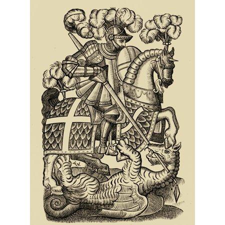The Red Cross Knight From The First Edition Of The Fairy Queene 1590 PosterPrint
