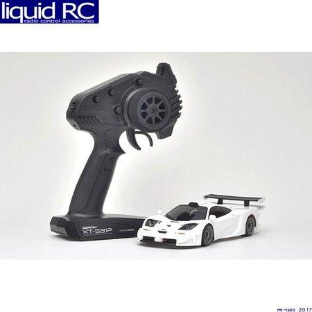 (Kyosho America 32332W-B MINI-Z RWD McLaren F1 GTR White MINI-Z RWD MR-03 RS)