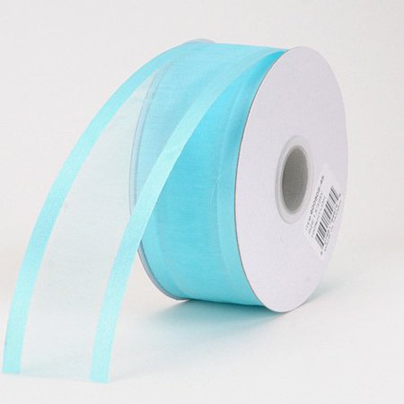 BBCrafts 3/8 inch x 25 Yards Two Striped Satin Edge Organza Ribbon Decoration Wedding Party (Aqua), Ship in 1 Business Day. By Generic