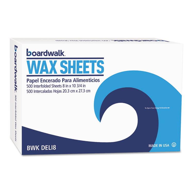 "INTERFOLD-SHEET DELI PAPER, 8"" X 10 3/4"", WHITE, 500 SHEETS/BOX, 12 BOX/CARTON"