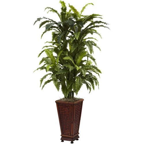 Nearly Natural Marginatum with Decorative Planter