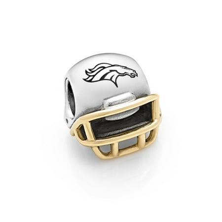 Denver Broncos Helmet Charm (Denver Broncos Pandora 14kt Gold Football Helmet Charm - No Size )