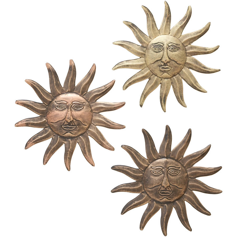 Decmode Metal Sun Wall Decor, Multi Color by DecMode
