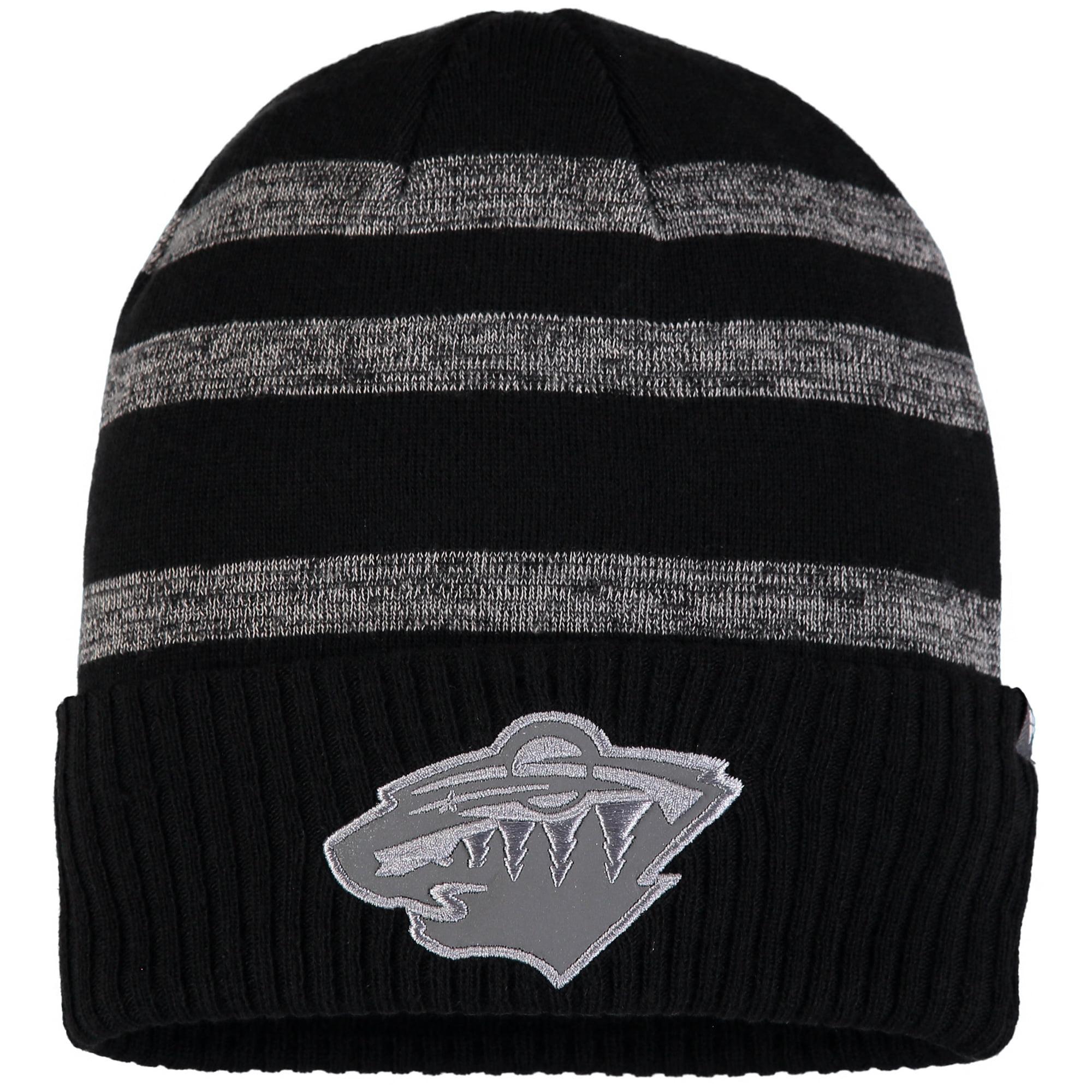 Minnesota Wild Fanatics Branded Reflective Sneaker Cuffed Knit Hat - Black/Gray - OSFA