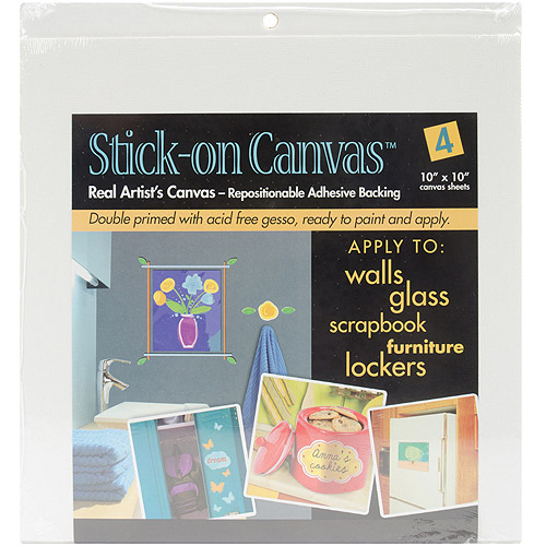 "Duro Stick On Artist Canvas, 4-Pack, 10"" x 10"""