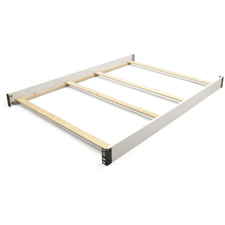 Delta Children Wooden Full-Size Bed Rails 0050, White ()