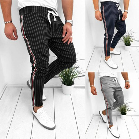 The Noble Collection Mens Slim Fit Tracksuit Sport Gym Skinny Jogging Joggers...
