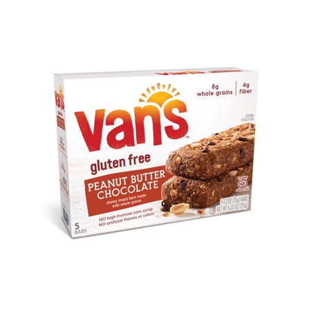 Van's Chewy Baked Whole Grain Snack Bars Peanut Butter Chocolate - 5 CT