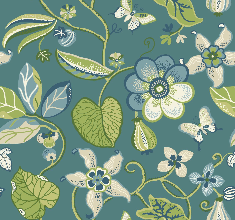 Sea Floral Wallpaper