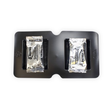 Sterno SpeedHeat 70340 Flameless Food Warming System Tray and Packet Refills, 2 Pack