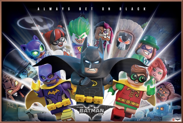 "The Lego Batman Movie Movie Poster   Print (Always Bet On Black) (Size: 36"" x 24"") by"