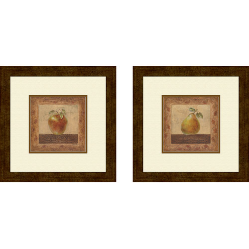 PTM Images Kitchen Elegant Edibles 2 Piece Framed Graphic Art Set