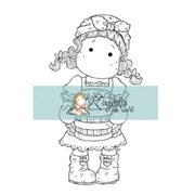 "Mini Cozy Family Cling Stamp 2.75""X5.75"" Package-Apple Tilda"