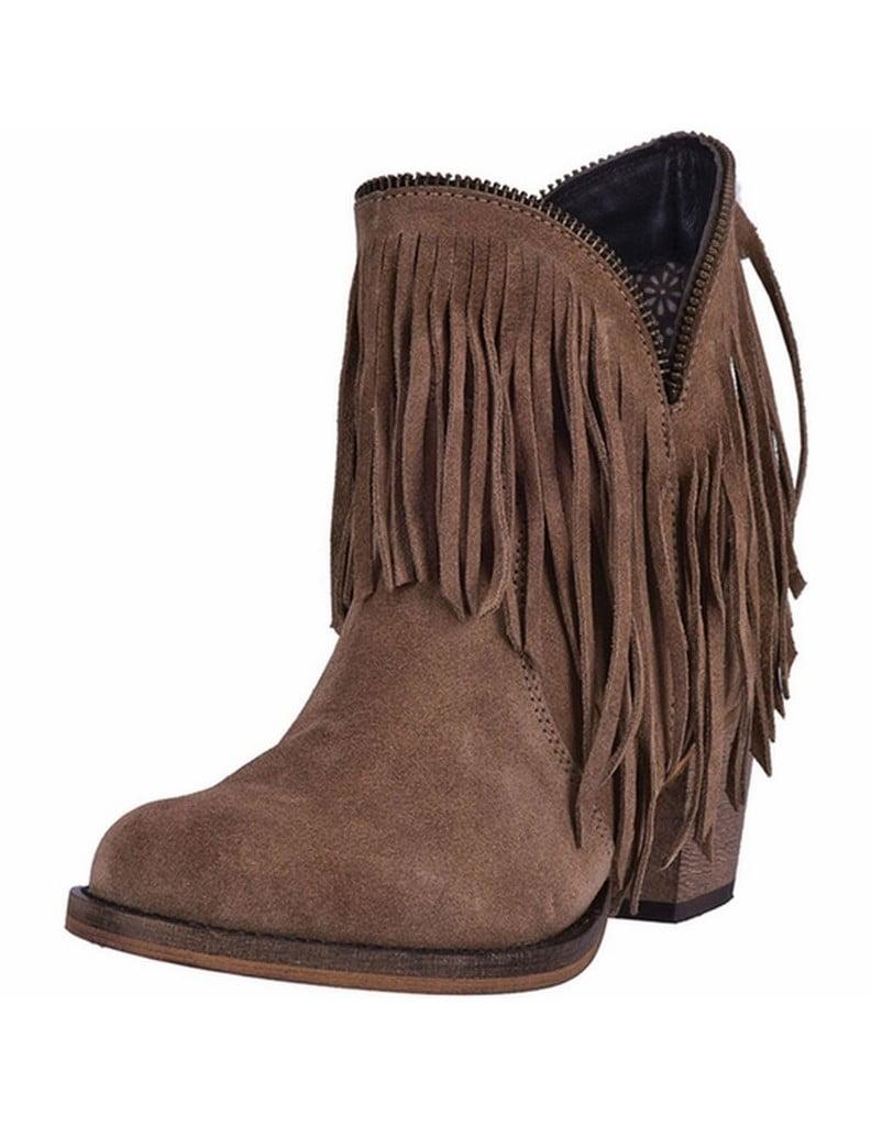 Dingo Fashion Boots Womens 6 inch Juju Cowboy Heel Suede Tan DI7454 by Dingo