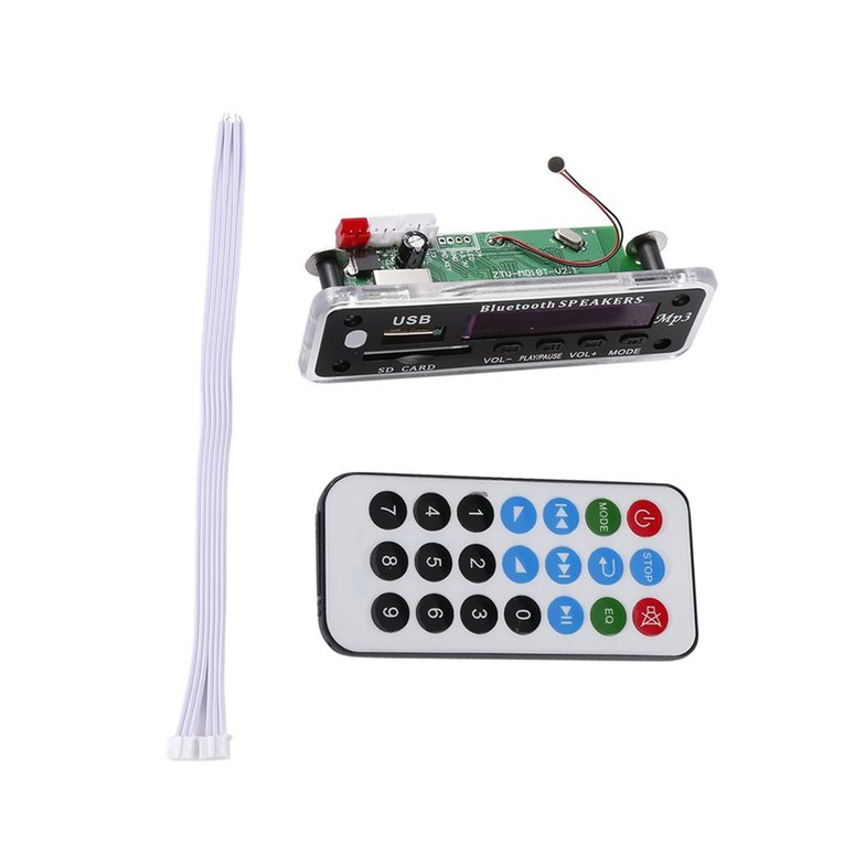 Integrated Wireless HandsFree Car Bluetooth Kit Decoder Board MP3 Player Support for