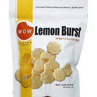 WOW Baking Company Lemon Burst Wheat & Gluten Free Cookies, 8 oz (Pack of 12)