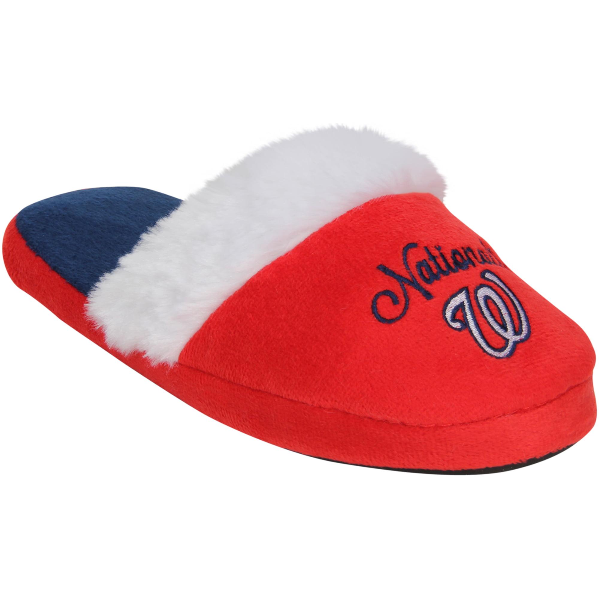Washington Nationals Women's Colorblock Fur Slide Slippers