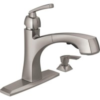 Deals on Delta Montauk Single Handle Kitchen Faucet w/Soap Dispenser