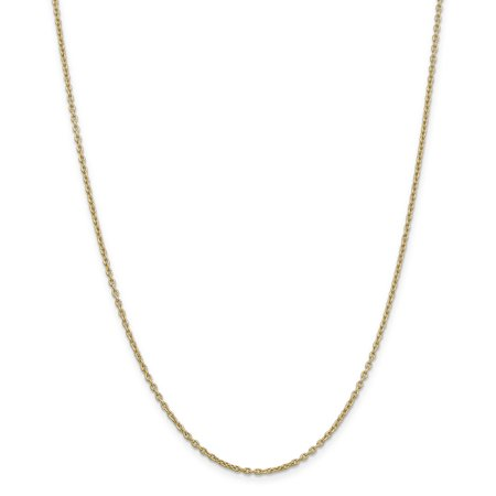 14K Yellow Gold 2mm Cable Chain 16 Inch - image 5 de 5