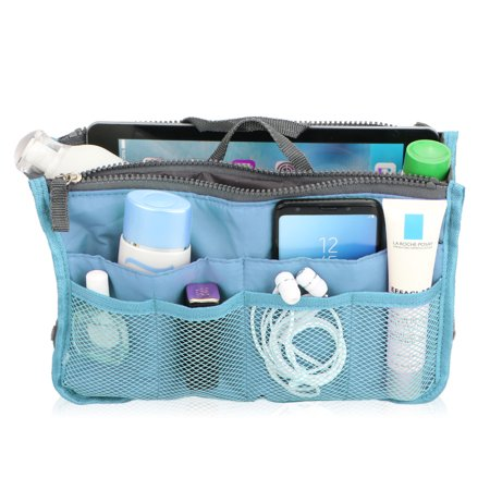 Travel Insert Handbag, Handbag Organizer Multi-Pocket Travel Cosmetic Makeup Purse Insert Liner Pouch Organizer Bag in Bag
