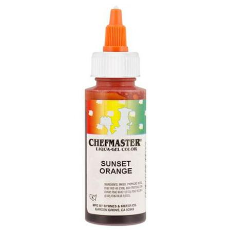 Chefmaster by US Cake Supply 2.3oz Sunset Orange Liqua-Gel Cake Food Coloring](Make Halloween Orange Food Coloring)