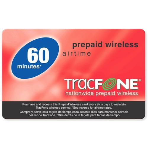 Tracfone 60 Unit Prepaid Airtime Card