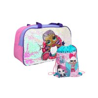 "L.O.L. Surprise! 18"" Duffel Bag Reversible Sequins & Sling Bag 2-Piece Set"