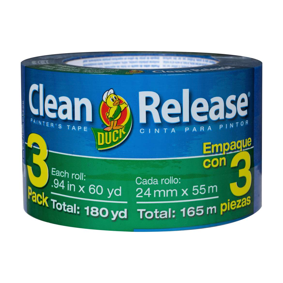 "Duck Brand Clean Release Painter's Tape, 0.94"" x 60 yds, 3 pack"