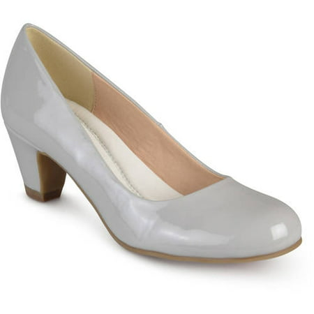 Brinley Co. Womens Patent Comfort Fit Classic Pumps