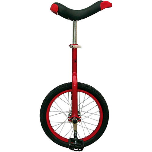 """Red 16"""" Unicycle with Alloy Rim"""