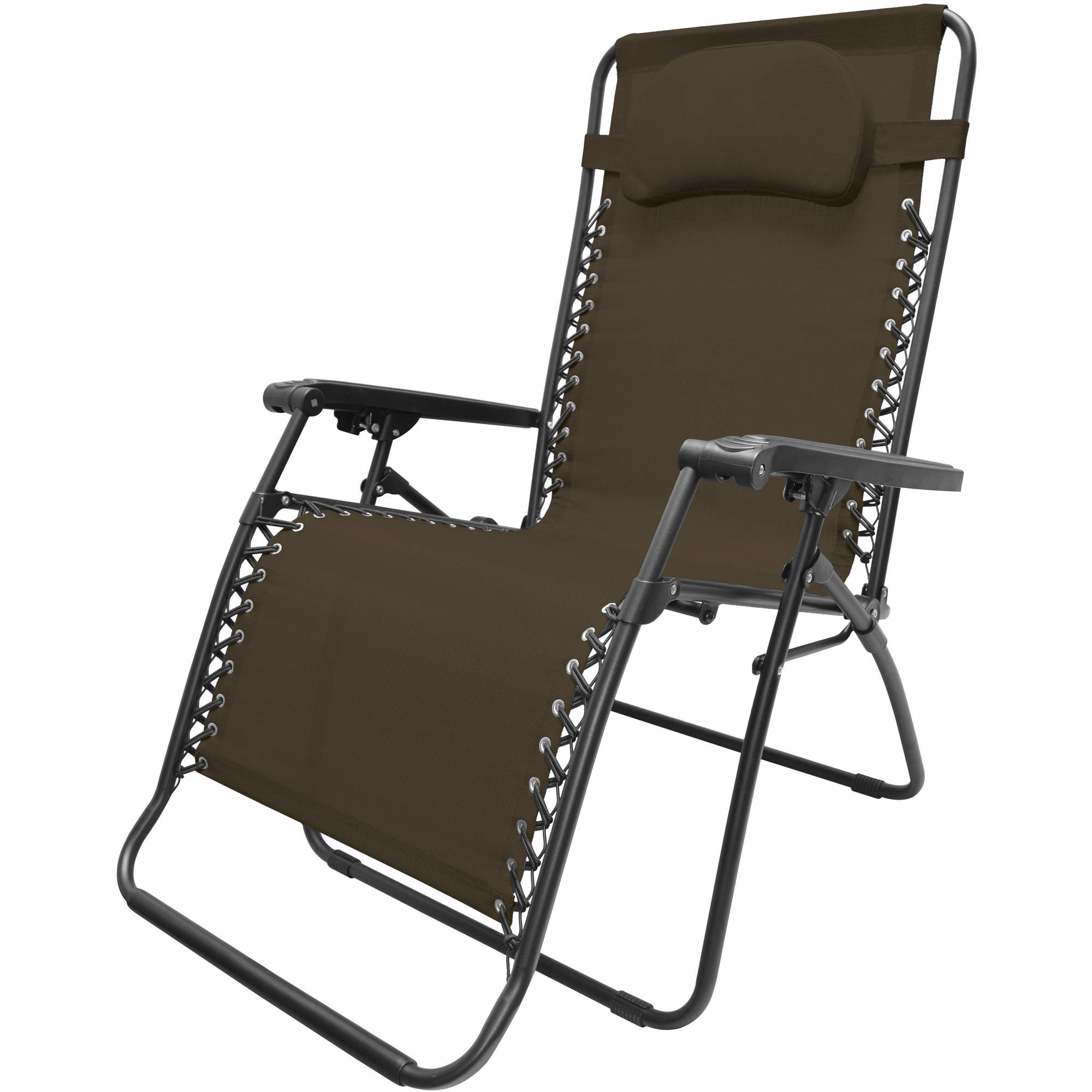 Caravan Sports Oversized Infinity Zero Gravity Chair, Brown
