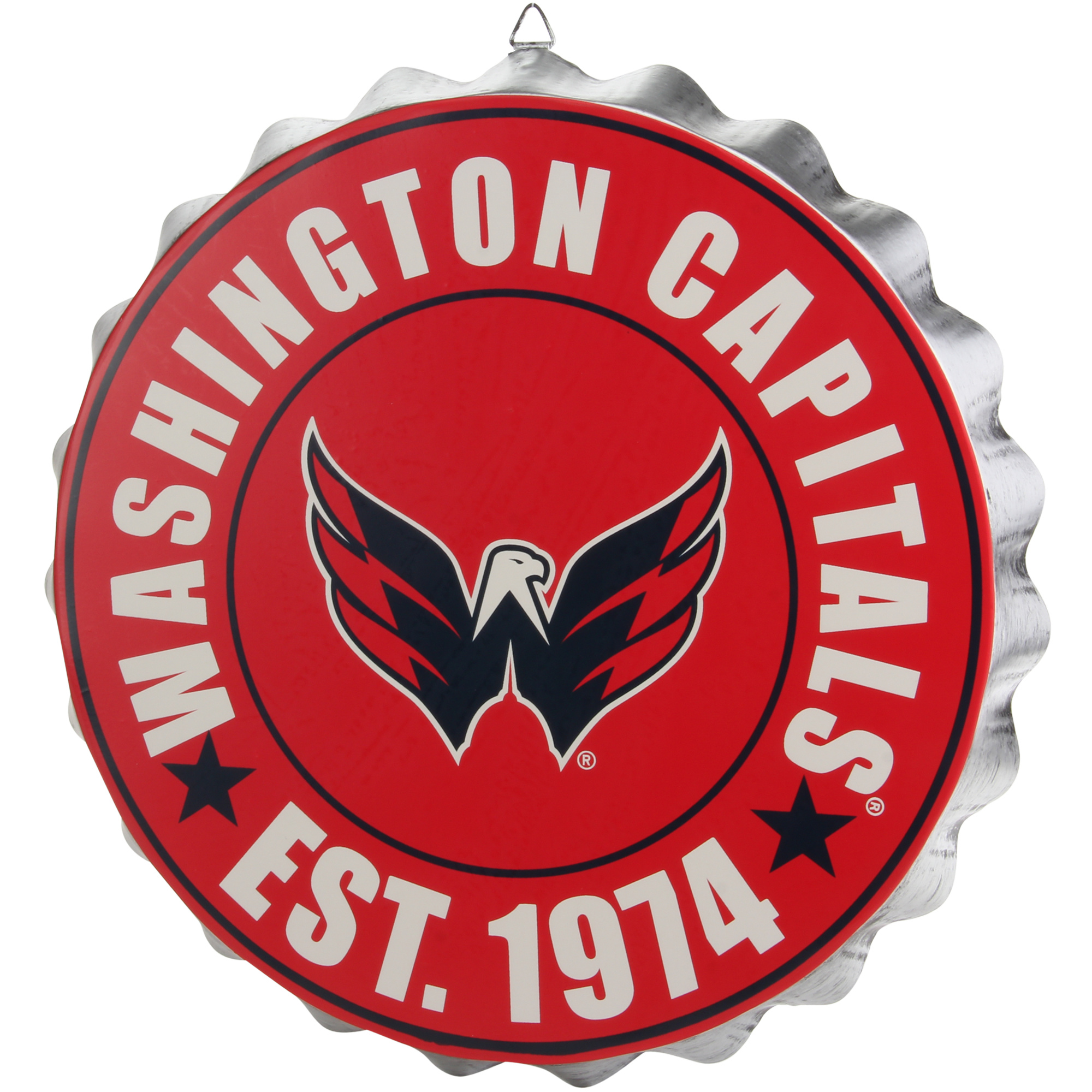 Washington Capitals Bottle Cap Wall Sign - No Size