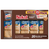 Lance Nekot Peanut Butter Cookie Sandwiches, Family Size 20 Ct