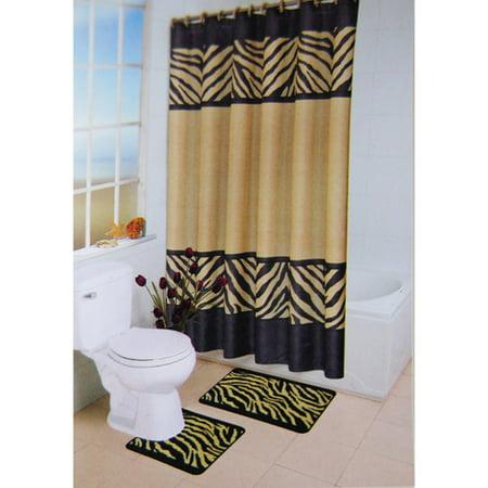 zebra 15 piece bath set - Bathroom Set Walmart