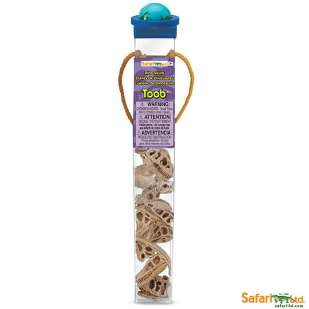 Safari Triple Tube (Safari Ltd 687404 Dinosaur Skulls Tube)