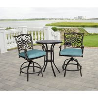 Hanover Traditions 3-Piece Swivel Outdoor High-Dining Set