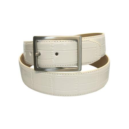 PGA Tour Men's Genuine Leather Croc Pattern Belt, Brand NEW - (Genuine Leather Croc)