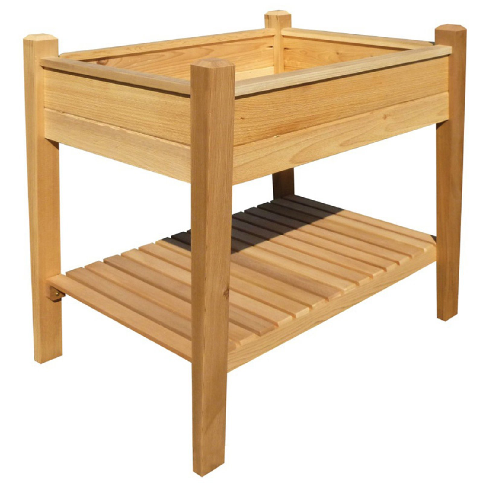 Phat Tommy Patio & Garden Elevated Cedar Planter Box 33L x 24W x 32H in. by Buyers Choice