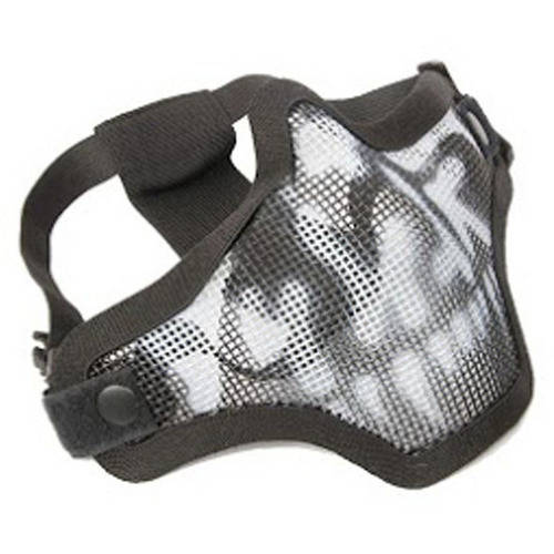 ALEKO PBWMM27 Metal Wire Mesh Half Face Mask Protective Safety Mask, Black And White by ALEKO