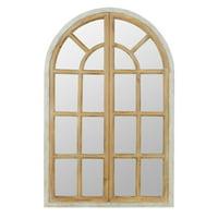 """Athena Farmhouse Arch Window Mirror 43"""" x 28"""" by Aspire"""