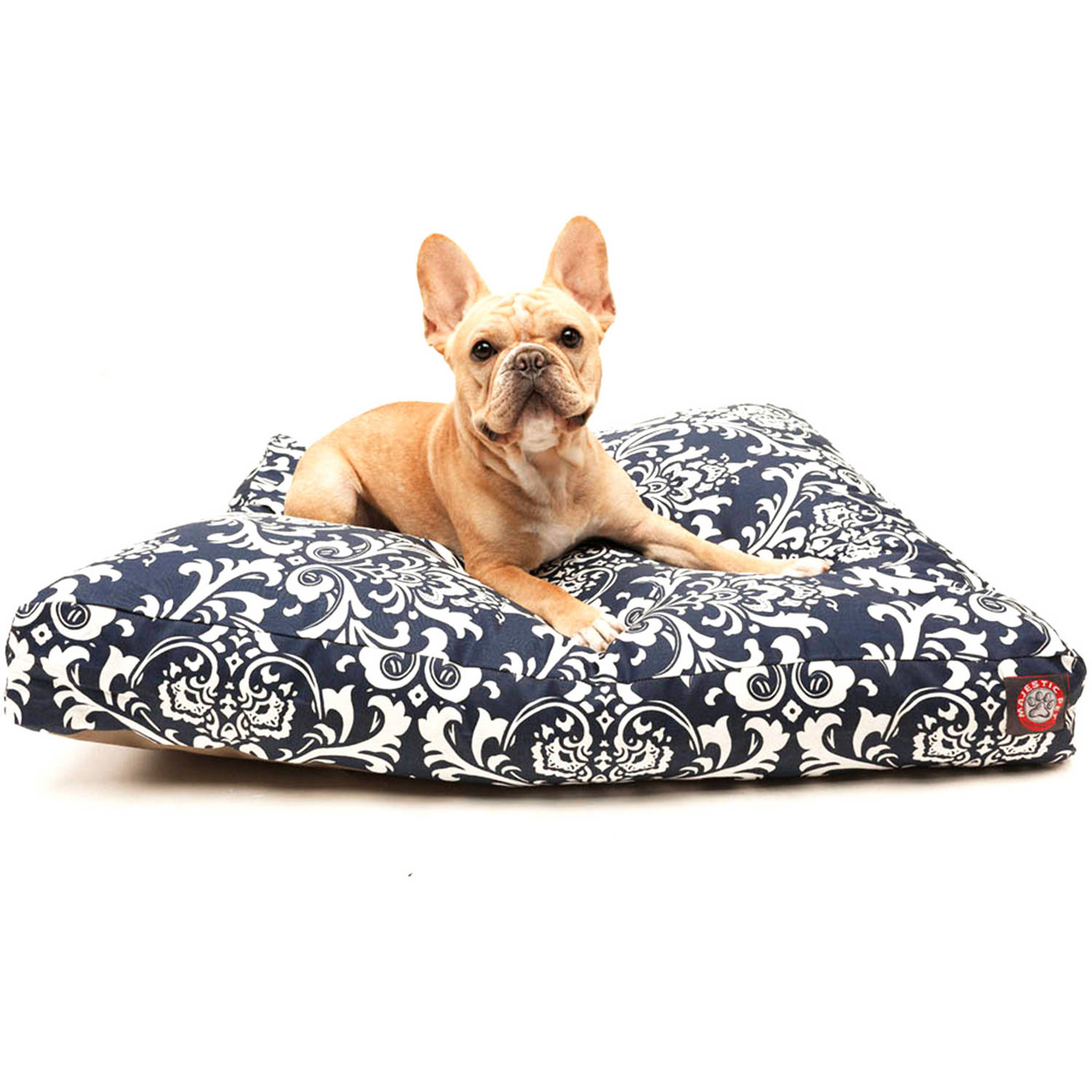 Majestic Pet Products French Quarter Rectangle Pet Bed, Navy Blue