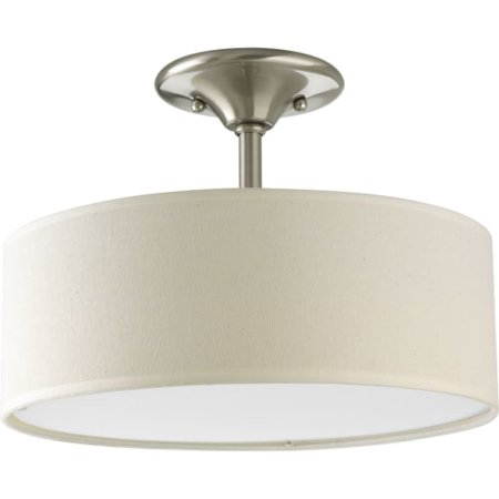 Progress Lighting P3939 Inspire 2 Light Semi Flush Mount Ceiling Fixture with Li