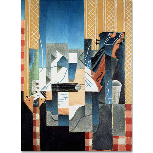 "Trademark Fine Art ""Still Life With Violin and Guitar"" Canvas Art by Juan Gris"