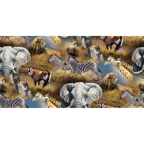 Springs Creative Wild Wings Kenyan Plains Scenic Fabric by the Yard