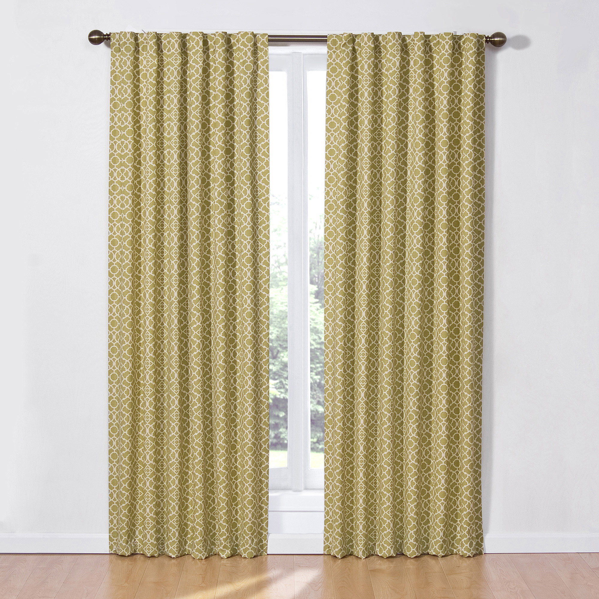 Waverly Lovely Lattice Curtain Panel