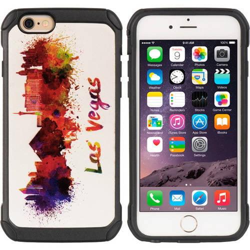 Mundaze Apple iPhone 6/6S Plus Cityscape Series Las Vegas Sin City Watercolor Mural Painting Phone Case TCAIP6L-CSP-LV