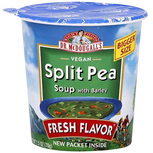 Dr. McDougall's Split Pea With Barley Big Cup Soup, 2.5 oz (Pack of 6)